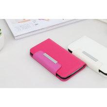 Estojo de couro magnético rosa cinto de proteção para Samsung S6