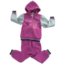 Winter Fleece Kids Girl Sport Suit in Children ′s Apparel Swg-138