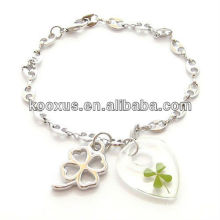Good luck mall Korea four leaf clover bracelet jewelry