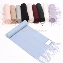 Bufanda de estilo indentada ligera de cachemira 100% para el mercado de Japón