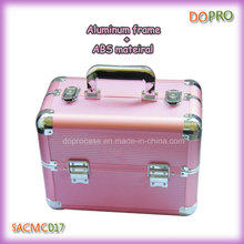 Pink Makeup Artist Cases Striped ABS Beauty Travel Case (SACMC017)