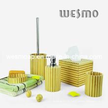 Accessoire de bain à rayures en bambou (WBB0329A)