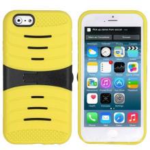 Couverture mobile rabattable dure de téléphone portable de Kickstand d'armure pour l'iPhone 6