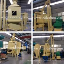 Высокоэффективный охладитель с обратным потоком для древесных топливных гранул, гранул подачи