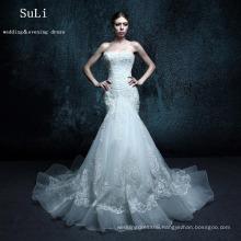 ZXB6 Mermaid Appliques Lace Beading Sweetheart Alibaba Wedding Dress
