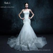 ZXB6 Русалка аппликации кружева бисероплетение милая свадебное платье Алибаба
