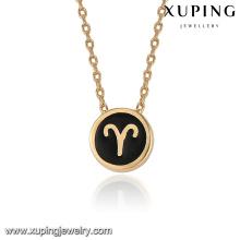 43403 conceptions de collier en or de vente chaude à la mode dans 2 grammes 18k Bélier pendentif plaqué or collier de bijoux
