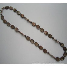 Moda grande colar de pérola, pérola bijuterias
