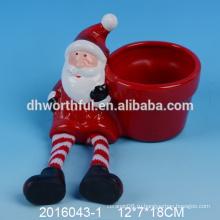Самый последний тип керамические вазы цветка рождества, керамический горшок цветка santa