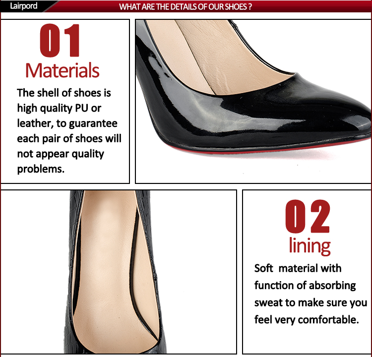 high quality fashion pig leather lining shoes