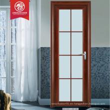 Precio bajo puerta del inodoro puerta del cristal precio oscilación diseño de puerta de aluminio