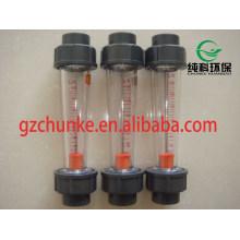 Tipo de tubo de plástico duradero Caudalímetro