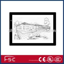 Prancheta de desenho de LED portátil com preço de fábrica e tamanho personalizado