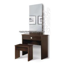 Wooden Dressing Tisch mit Hocker und Spiegel