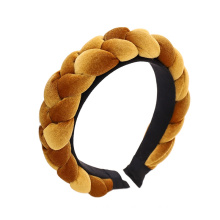Bandeau Opaska Autumn Winter Flannel Braid Sponge Hairband Fashion Hair Accessories Korean Handmade Thick Headband Dropshipping Wholesale