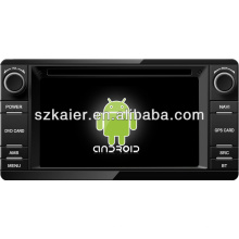 4.2Android Système lecteur dvd de voiture pour 2013 Mitsubishi Outlander avec GPS, Bluetooth, 3G, ipod, jeux, double zone, contrôle du volant