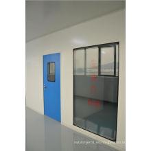 Puerta de acero inoxidable para sala limpia