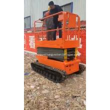 China Aerial Working Platform Lifting Table Crawler Self Propelled Scissor Lift on Tracks