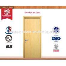 Porta de madeira de fogo popular fabricada na China