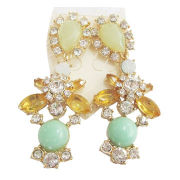 New fashion jewelry earrings for spring, summer, good color rhinestone pendant,made of metal,acrylic