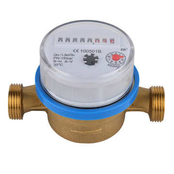 Brass Single Jet Vane Wheel Dry Type Water Meters
