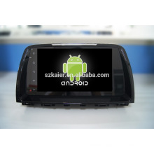 Quad core!car dvd with mirror link/DVR/TPMS/OBD2 for 9 inch full touch screen quad core 4.4 Android system MAZDA 6 2014