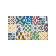 Colorful Printed Cushioned Kitchen Mat