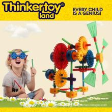 Brinquedo plástico de construção educacional para crianças