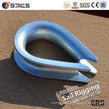 Dedal galvanizado DIN6899b de la cuerda de alambre