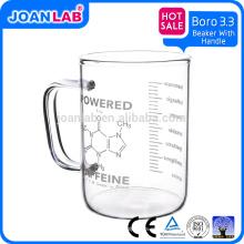 Taza del vaso de cristal de Pyrex del LABORATORIO de JOAN
