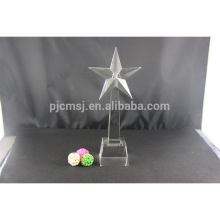 Most popular fashionable star shape crystal trophy and awards