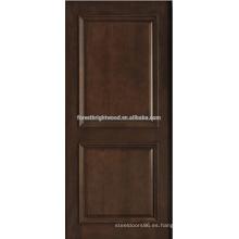 diseño de puerta de madera maciza caoba 2-panel