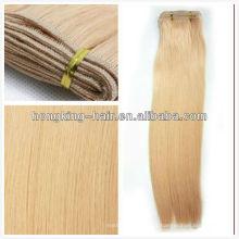 10 pouces-30 pouces femmes blanches de haute qualité non transformés vierges indiens blonds cheveux armure