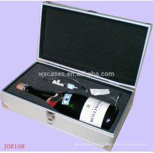 boîtes-cadeaux en aluminium pour verres à vin et bouteille haute qualité de l'usine de la Chine