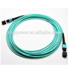 Precio de fábrica 4 8 12 24core MPO / MTP OM3 10G cordón de remiendo óptico de fibra / puente, cable de fibra óptica de cristal