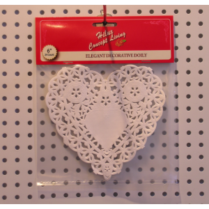 Heart shape paper doily header card 6.5inch