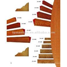 Inlay diseño molduras de madera para la construcción.