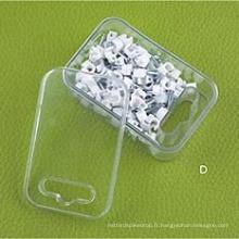 Série HCl (boîte en plastique avec trou) Clips de câble