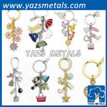 Fashion couple gift keychains custom
