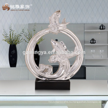 Европейский стиль мода интерьер декоративные статуи лаки рыба смолаы украшения новый дизайн украшения дома