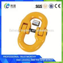 Double connecteur de chaîne d'ancrage pivotant