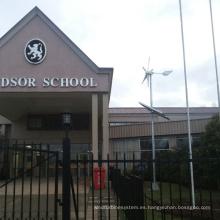 Sistema de energía eólica de 600W para la escuela