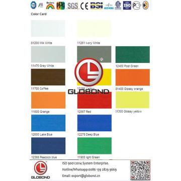 Globond Plus PVDF panneau composite en aluminium (PF132)