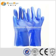 Перчатки производитель химические перчатки с покрытием из ПВХ с длинными химическими перчатками