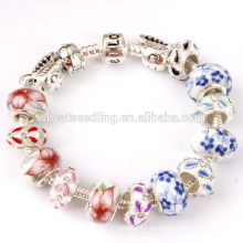 Gute Qualität buntes Glas Charme Samen Perlen Armband