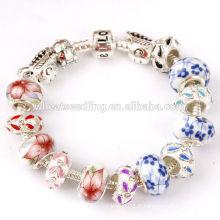 Bracelet de perles de graines de verre coloré de bonne qualité