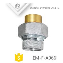 EM-F-A066 Messing vernickelt Kupfer Russland Innengewinde Rohrverschraubung