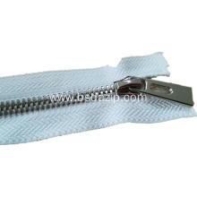 factory customized for Metal Stainless Steel Zipper No. 5 Metal Coat Zipper Online Shopping export to South Korea Exporter