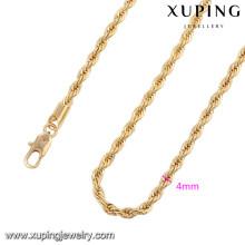 43045 Xuping novo projetado colar de corrente banhado a ouro