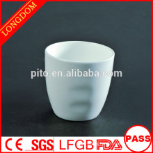 2014 hot sale finger printed shape porcelain tea cup
